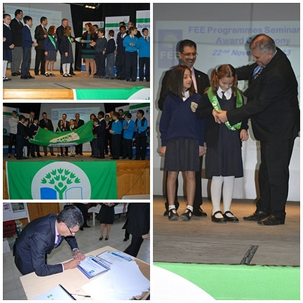 Qala Primary presented with Green Flag during Eko-Skola National Awards