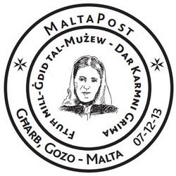Special hand postmark – Ftuh mill-Gdid tal-Muzew - Dar Karmni Grima