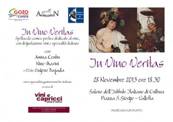 'In Vino Veritas' a poetic comedy show from Gozo, being performed in Malta