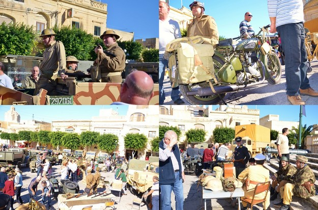 A Classic & Military Vehicles Show entertains visitors at Nadur Square