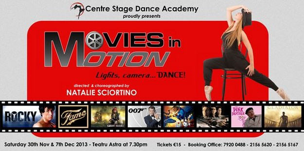 'Movies in Motion' dance spectacular with the Centre Dance Academy