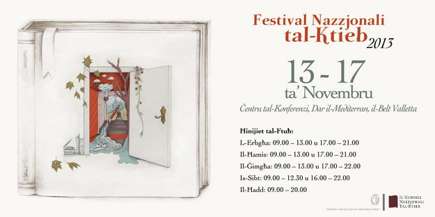 'National Book Festival' opens this coming Wednesday in Valletta