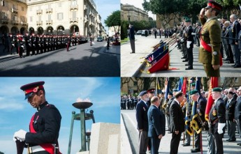 Remembrance Day commemoration ceremony held at Valletta today