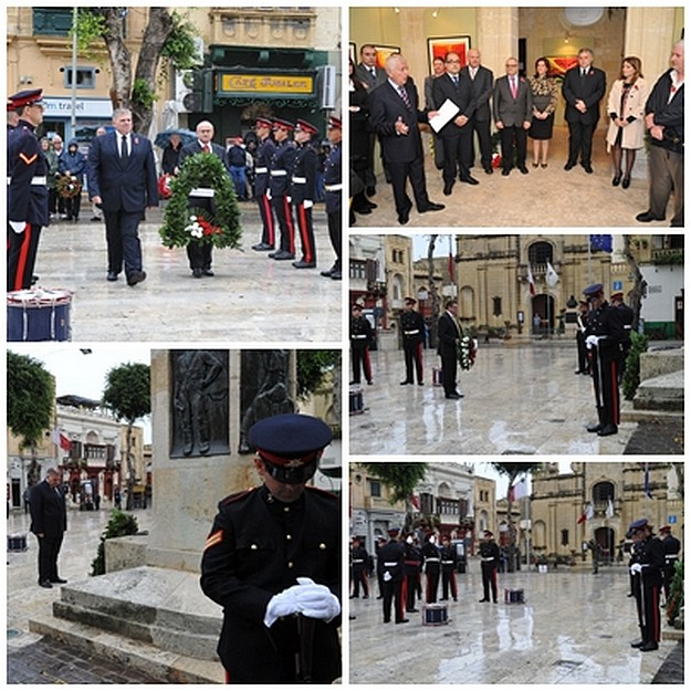 Remembrance Day commemorated in Gozo by the laying of wreaths