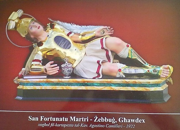 Zebbug, Gozo celebrates the feast of 'San Fortunatu Martri' on Sunday