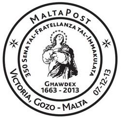 Special hand postmark - 350 Sena tal-Fratellanza tal-Immakulata