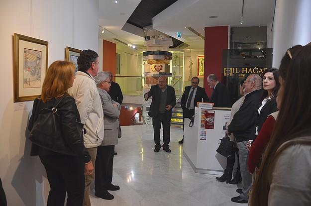 Exhibition of Francis Webb's watercolours at Il-Hagar Museum, Victoria