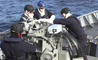 Offshore & Inshore AFM Patrol Vessels carry out gunnery excercise