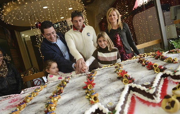 Christmas tree cake helps to raise funds for Inspire in Gozo