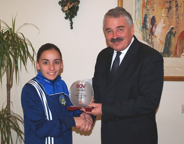 Emma Xuereb is BOV Female Player of the Month for September & October