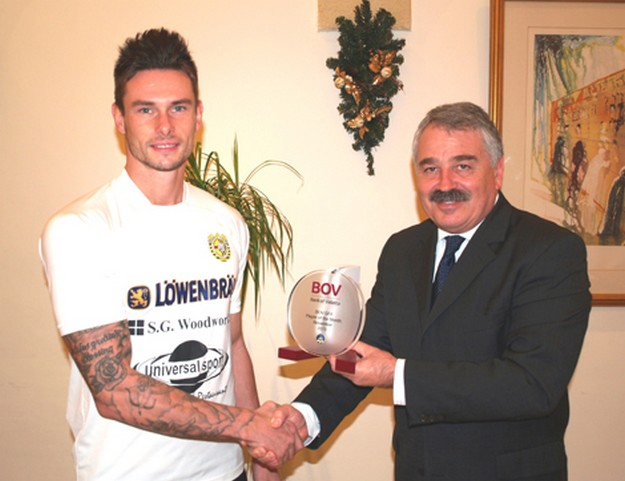 Xewkija's Dene Shields voted BOV GFA Player of the Month for November