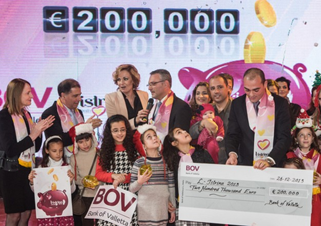 BOV presents €200,000 during the live broadcast of L-Istrina