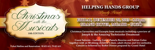 'Christmas with the Musicals,' 10th edition with the Helping Hands Group