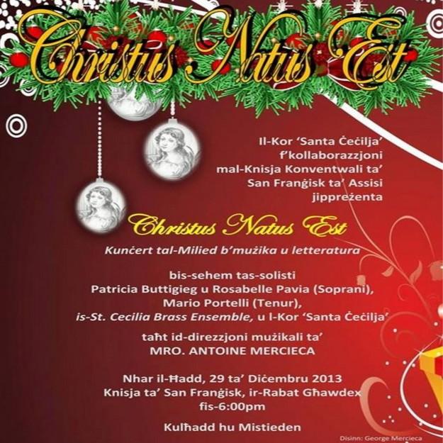 'Christus Natus Est' - Musico-literary Christmas Concert in Victoria