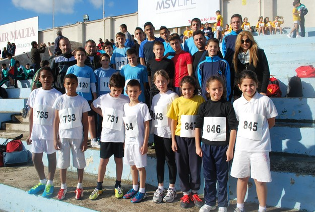 Gozo youngsters do well in the Annual Schools' Cross County Competition