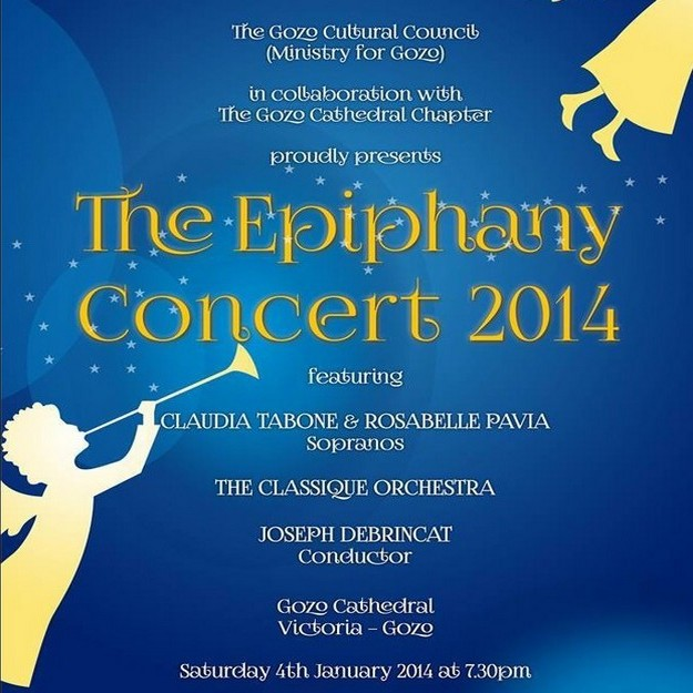 'The Epiphany Concert 2014' at the Gozo Cathedral this Saturday