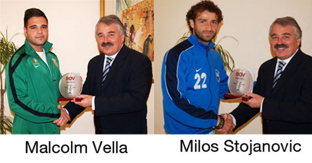 Malcolm Vella and Milos Stojanovic win BOV player of the month awards