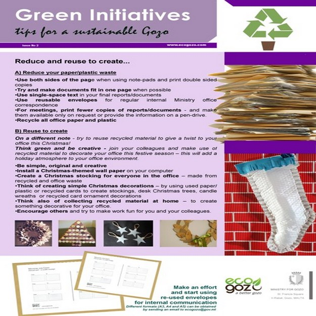 Green Initiatives Programme - Reduce and  Reuse to Create