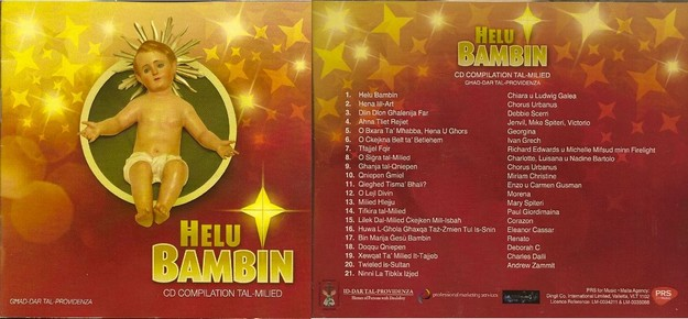'Helu Bambin' CD - A compilation of Christmas carols in aid of Id-Dar tal-Provvidenza