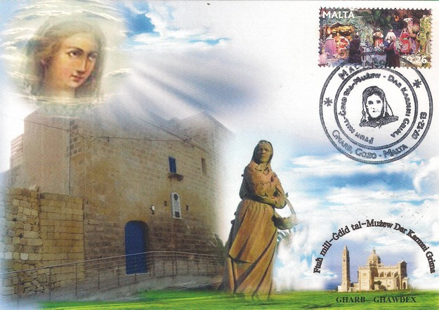 Commemorative Card issued to celebrate re-opening of Karmni Grima Musem