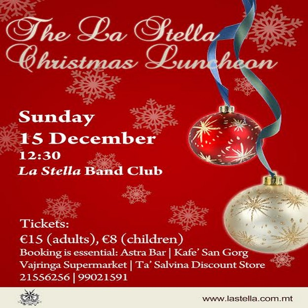 The La Stella Philharmonic Society 4-course Pre-Christmas Luncheon