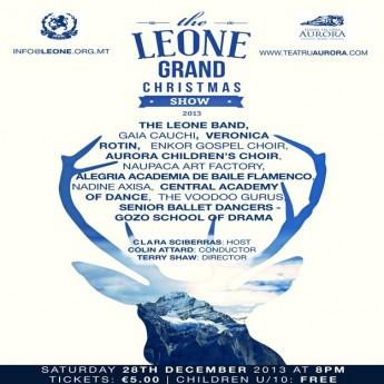 Gaia Cauchi & Veronica Rotin head the line up for the Leone Grand Christmas Show
