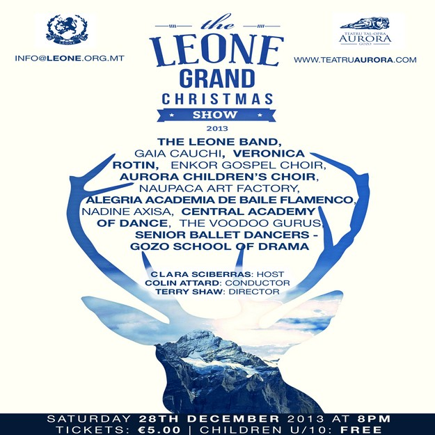 Gaia Cauchi & Veronica Rotin head the line up for the Leone Grand Christmas Show