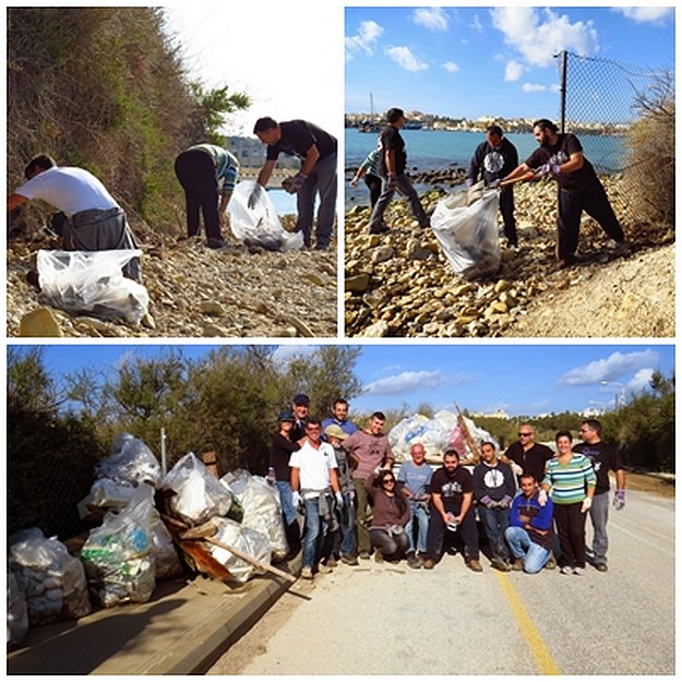 Large quantities of rubbish collected in clean-up day at il-Ballut ta' Marsaxlokk