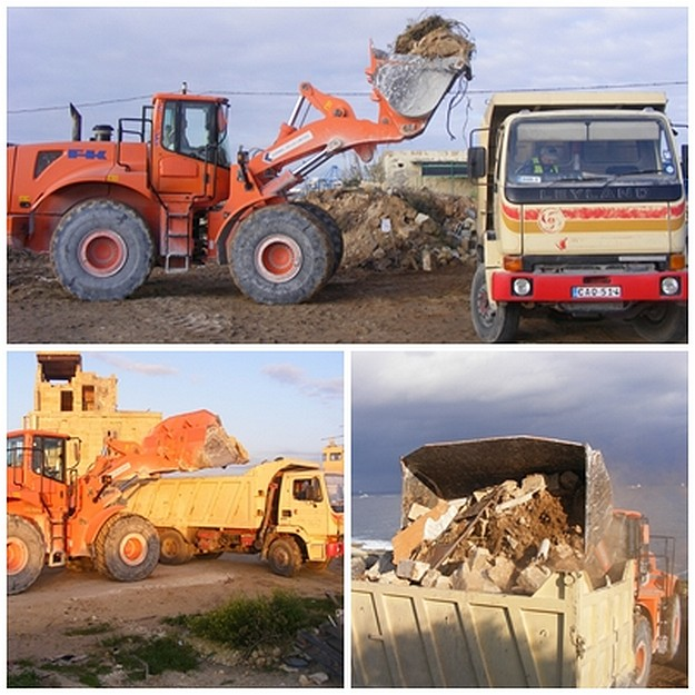 MEPA removes tonnes of illegally dumped material from scheduled site in Delimara