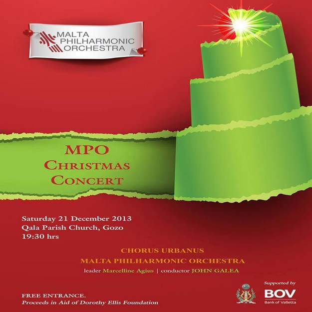 MPO's Gozo Christmas Concert in aid of the Dorthese Ellis Foundation