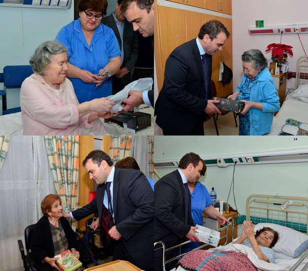 Dr Franco Mercieca visits elderly residents at 'Dar Sant'Anna' in Gozo