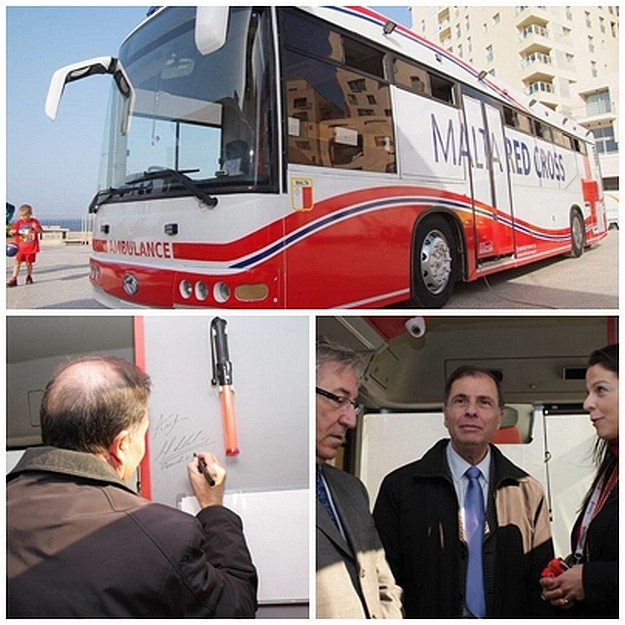 President of Malta Dr George Abela, inaugurates Malta`s First Mobile Clinic