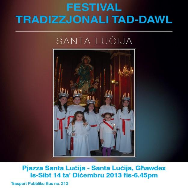 'The Festival of Light' celebration this Saturday in Santa Lucija, Gozo