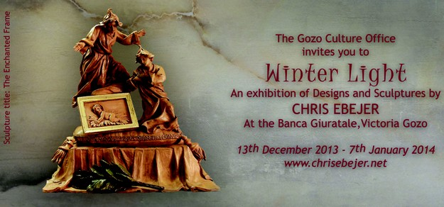 'Winter Light' sacred art exhibition by Chris Ebejer at the Banca Giuratale