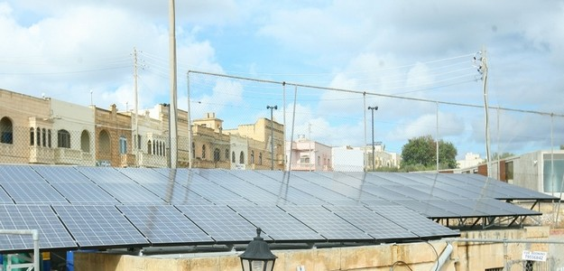 Green football at Xaghra United with a new Photovoltaic System