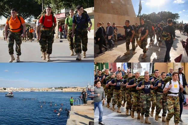 AFM soldiers take part in 15km march & swim for Puttinu Cares