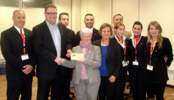 Air Malta collects €4,250 for Breast Care Support Group
