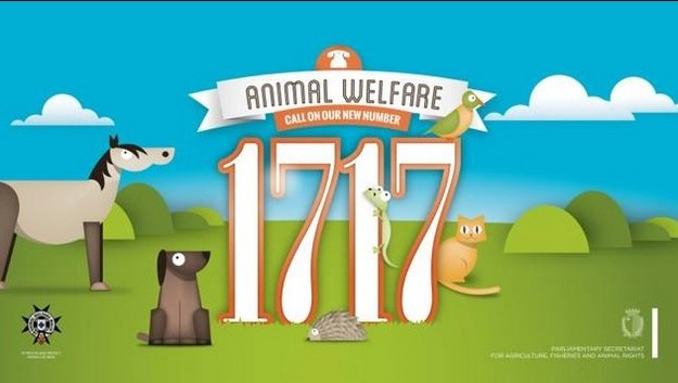 1717 - New easy to remember telephone number for animal welfare