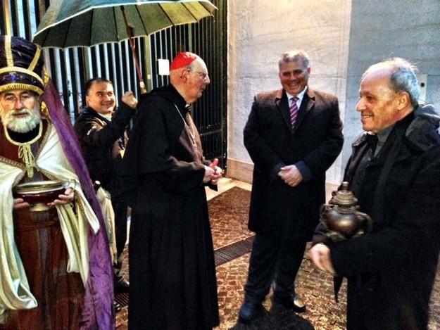 Minister for Gozo Anton Refalo & Maltese contingent visit Tolfa