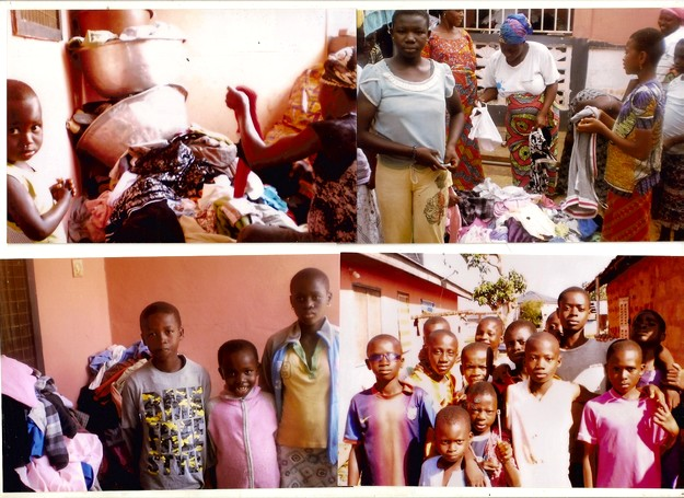 Tons of clothes & items collected by the OMVG distributed in Ghana