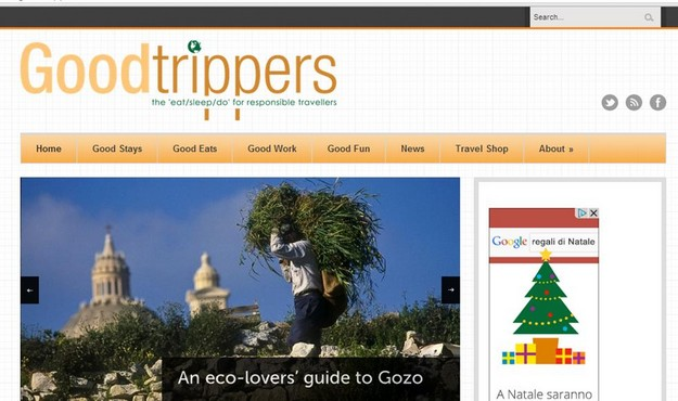 'Eco-friendly holiday possibilities in Gozo' - Good Trippers website