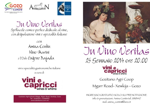 In Vino Veritas - A unique wine tasting & performance in Gozo