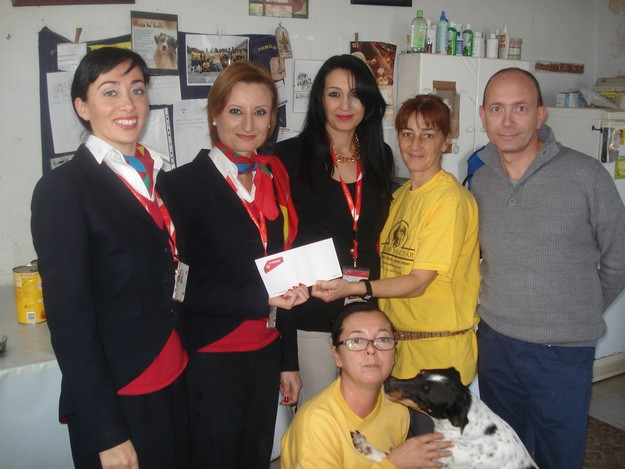 Air Malta staff assist the Island Sanctuary by raising €630