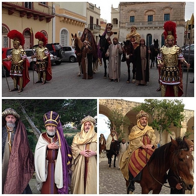 'The Magi' start their journey to Gozo and Bethlehem f'Ghajnsielem