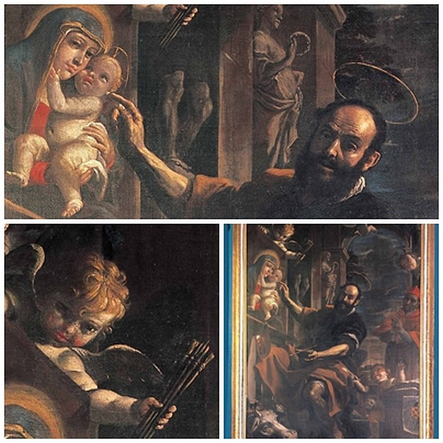 Mattia Preti painting exhibited at Palazzo Vescovile, Calabria