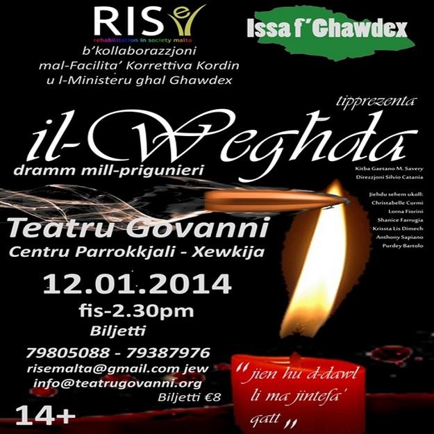 'Il-Weghda' next Friday at the Teatru Govanni, Xewkija