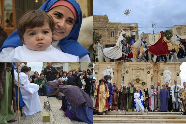 'La Cavalcata dei Re Magi' held in Xaghra on Sunday morning