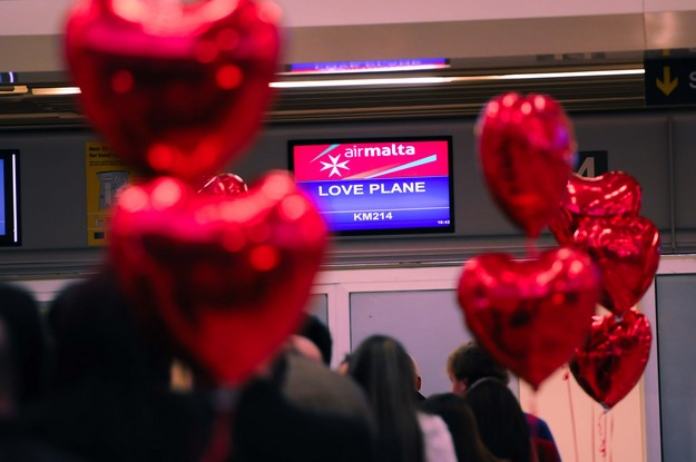 Air Malta's Love Plane takes to the skies again for Valentine's Day