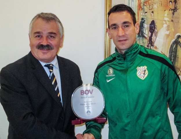 Kercem Ajax's Petar Kyumyurdzhiev is BOV Gozo Player of the Month