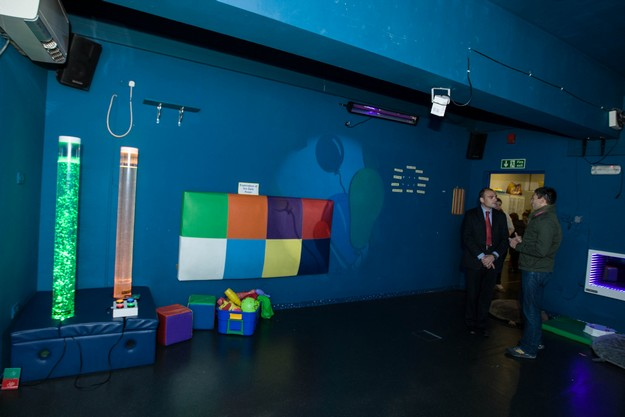 Inspire's Multi Sensory Room upgraded through support from BOV